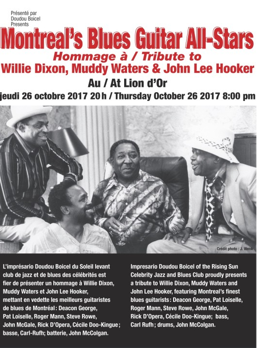 Affiche_Montreal's Blues Guitar All-Stars